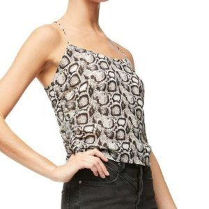Good American The Ruched Snake Print Cami